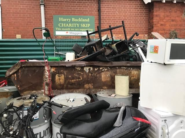 Harry Buckland's Charity collection skip